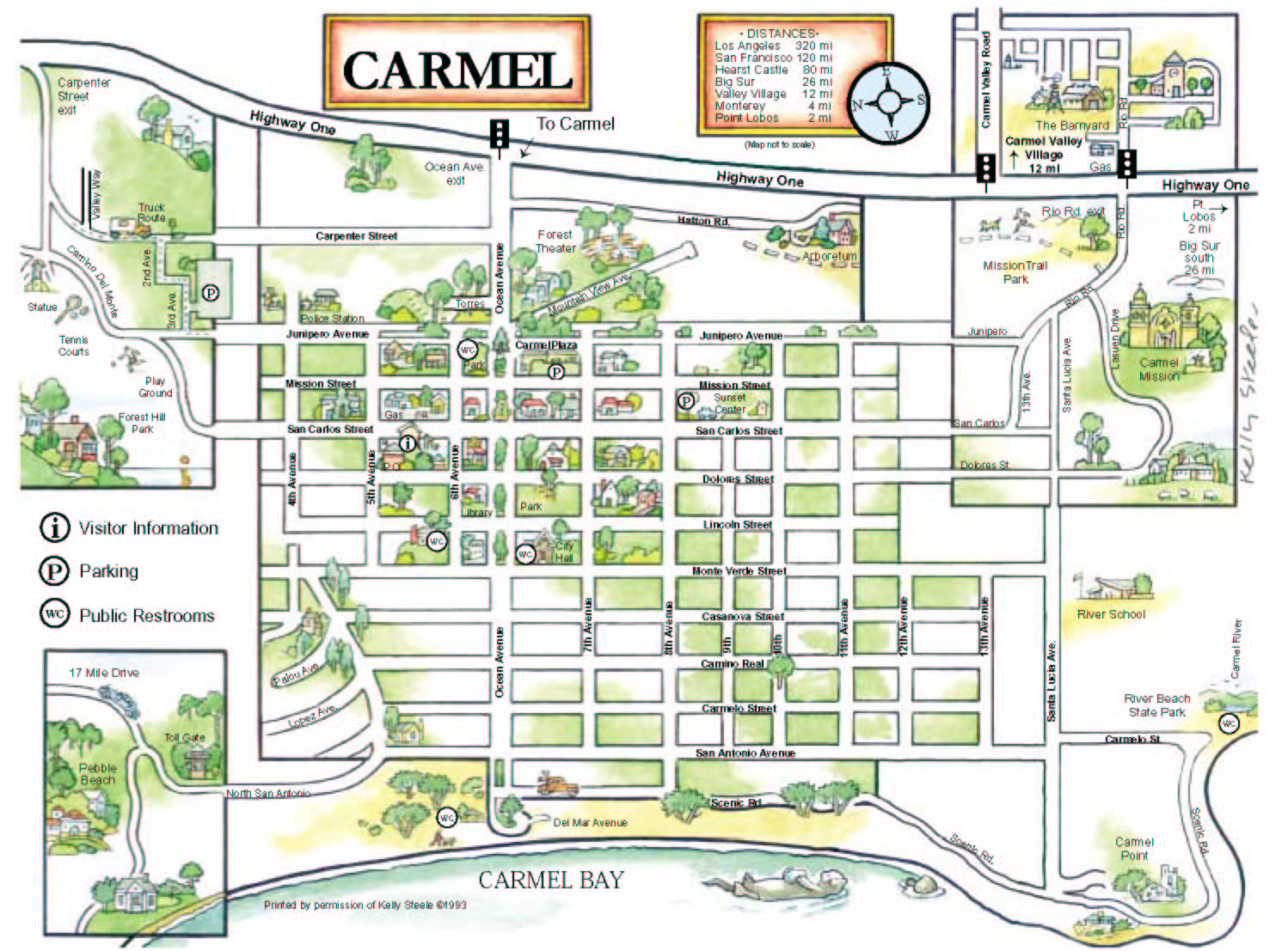 eureka ca map with Map Of Carmel Ca on Mendocino directions furthermore C bell Calif besides 360301379 as well Victorianvillageinn further 4110838561.